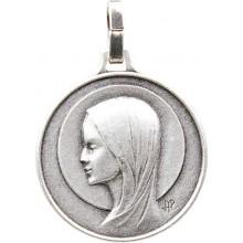 Médaille argentée de la Vierge Marie