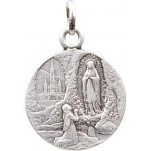 Médaille argentée de Notre Dame de Lourdes