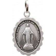Médaille argentée de Notre Dame des Miracles