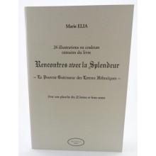 M. Elia, 24 cartes illustrations des lettres hébraïques