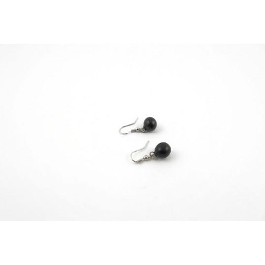 Shungite - Boucles d'oreilles balles