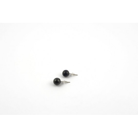 Shungite - Boucles d'oreilles Anna