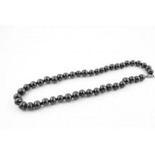 "Shungite - Collier perles ""cubes"" et perles noires"