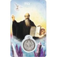 Carte médaille - Saint Benoit