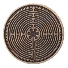 Pièce sacrée - Labyrinthe de Chartres en cuivre 4 cm