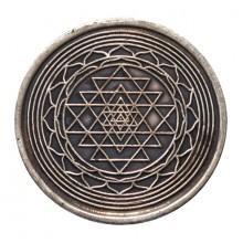 Pièce sacrée - Shri Yantra en cuivre 4 cm