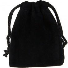 Pochette suédine noir - petit modèle