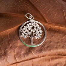 Pendentif - Yggdrasil - arbre de vie - argent