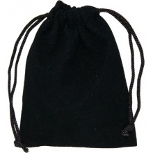Pochette suédine noir - grand modèle