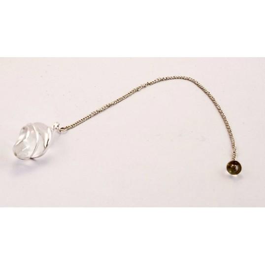 Pendule - Spirale en cristal de roche