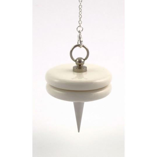 Pendule double-disque blanc