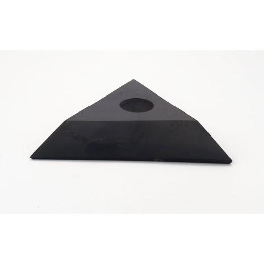 Shungite - Support sphère triangulaire - grand