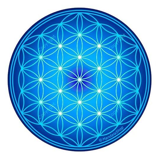 Disque harmonisant - Fleur de vie - Bleu