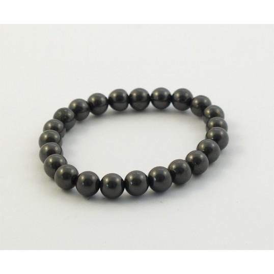 Shungite - Bracelet - sphères - 8mm