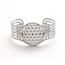 Bracelet - fleur de vie avec cristaux 7 chakras