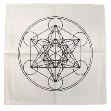 Tapis géométrie sacrée - Cube de Métatron