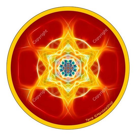 Disque harmonisant - Mandala Terre