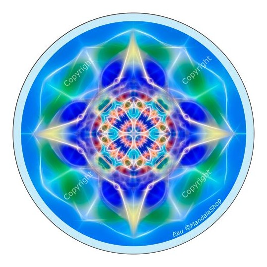 Disque harmonisant - Mandala Eau