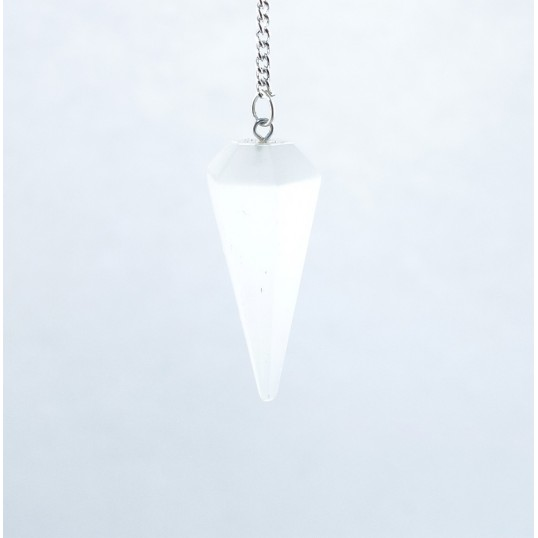 Pendule pointe hexagonale - Sélénite