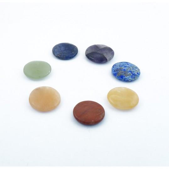 Set de 7 pierres chakra rondes