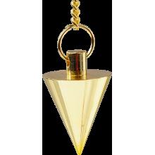 Pendule en métal - Conique doré