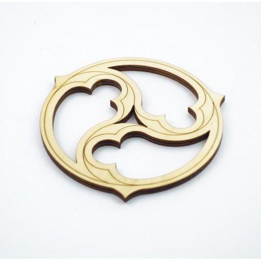 Triskel en bois - 10 cm