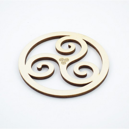 Triskel breton en bois - 10 cm