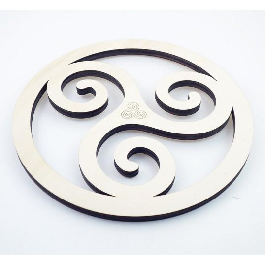 Triskel breton en bois - 25cm