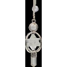 Pendule Merkaba 3 pierres en cristal