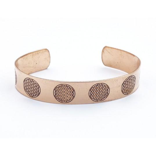 Bracelet cuivre - fleur de vie