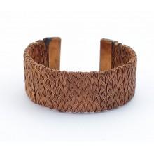 Bracelet - cuivre - tressé large