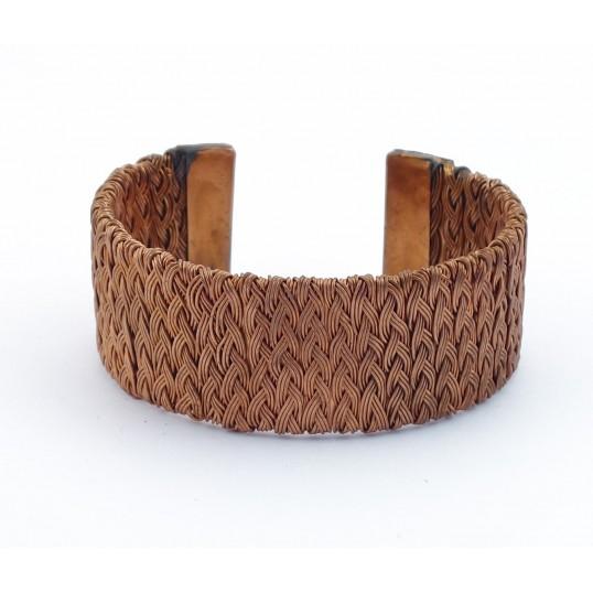 Bracelet cuivre - tressé large