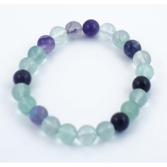 Bracelet perles 8mm - fluorite