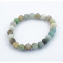 Bracelet perles 8mm - amazonite multi