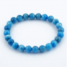 Bracelet perles 8mm - apatite bleue