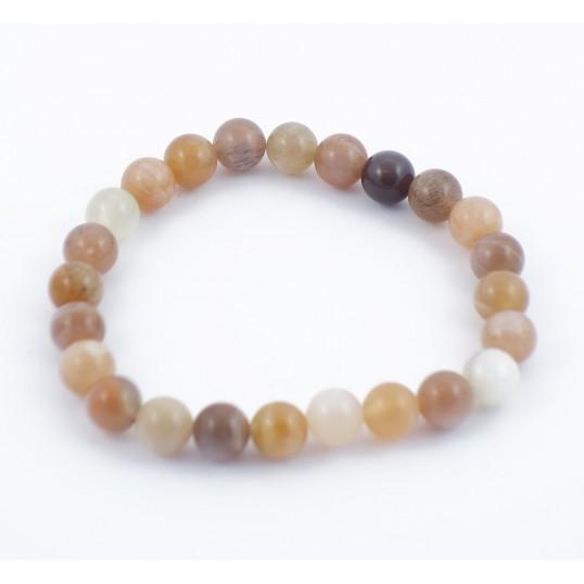 Bracelet perles 8mm - pierre de lune