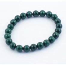 Bracelet perles 8mm - malachite (claire)