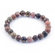 Bracelet perles 8mm - rhodonite