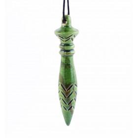 Pendule de Thot en céramique vert lotus