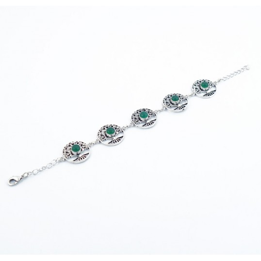 Bracelet arbre de vie - aventurine verte