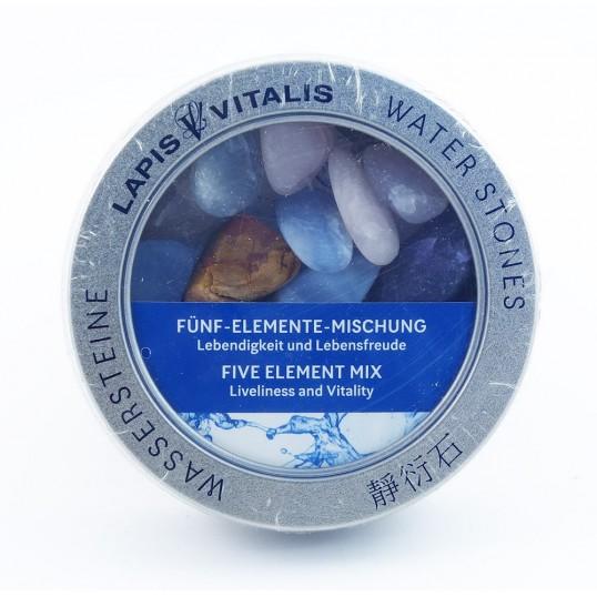 Pierres pour l'eau - mix 5 éléments (vitalité et joie)