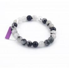 Bracelet perles 8mm - quartz tourmaline