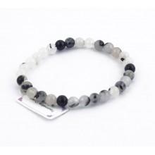 Bracelet perles 6mm - quartz tourmaline
